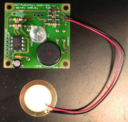 Image showing the Piezo mounted on the PCB