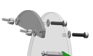 Exploded view of the Paper Holder