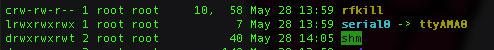 Default Raspberry PI 2 serial port aliases