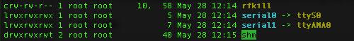 Default Raspberry PI 3 serial port aliases