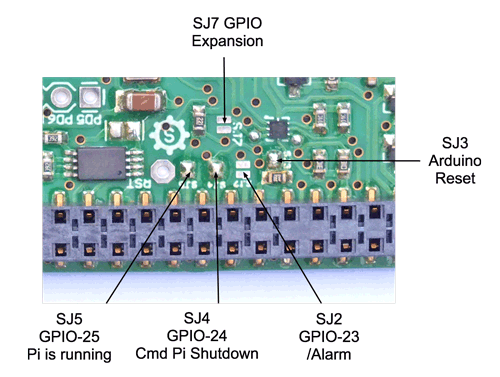Sleepy Pi 2 GPIO Solder Jumpers